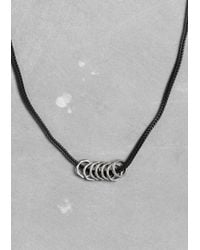 & Other Stories - Metallic Multiring Necklace - Lyst