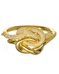 Rachel Zoe | Metallic Love Me Knot Bracelet | Lyst
