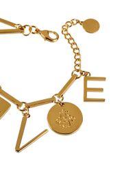 Stella McCartney - Metallic Love Charm Necklace - Lyst