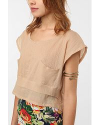 Urban Outfitters - Metallic Geometric Arm Band - Lyst