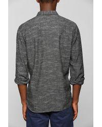 Urban Outfitters - Gray Stapleford Jed Slub Buttondown Flannel Shirt for Men - Lyst