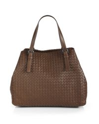 Bottega Veneta - Brown Intrecciato Nappa Large Tote - Lyst