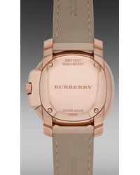 Burberry Brit - Natural The Britain 34mm Diamond Dial - Lyst