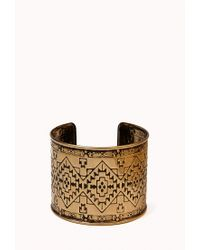 Forever 21 | Metallic Worldly Etched Cuff | Lyst