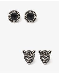 Forever 21 | Black Jaguar Stud Set | Lyst