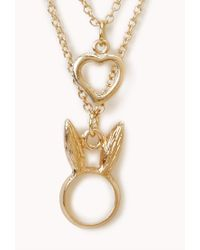 Forever 21 - Metallic Bunny Love Necklace - Lyst