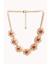 Forever 21 | Pink Dreamy Floral Necklace | Lyst