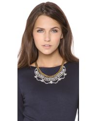 Juicy Couture - Metallic Rhinestone Drama Necklace - Lyst