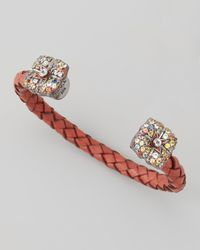 M.c.l  Matthew Campbell Laurenza | Gray Mixed Sapphireflower Cuff Red | Lyst