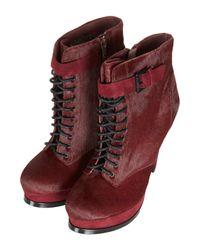 TOPSHOP - Purple Priceless Premium Leather Boots - Lyst