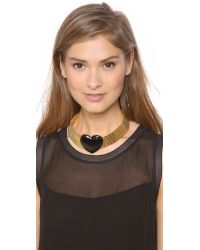 Tuleste - Metallic Heart Choker Necklace - Lyst