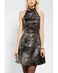Urban Outfitters | Knt By Kova T Backless Metallic Halter Dress | Lyst