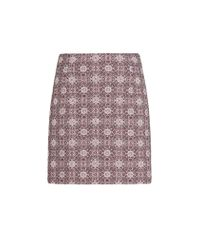 Mango | Purple Jacquard Mini Skirt | Lyst