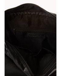 Forever 21 - Black Faux Leather Messenger Bag for Men - Lyst