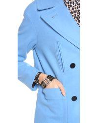 Club Monaco - Blue Brittney Coat - Lyst