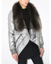 DRKSHDW by Rick Owens - Metallic Exploder Jacket Silver for Men - Lyst