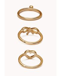 Forever 21 - Metallic Dainty Ring Set - Lyst