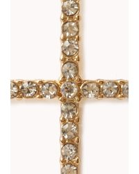 Forever 21 | Metallic Glam Cross Earrings | Lyst