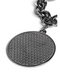 Givenchy - Gray Large Medallion Chain Bracelet - Lyst