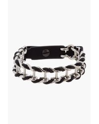 Lanvin | Metallic Silver Chain Bracelet for Men | Lyst
