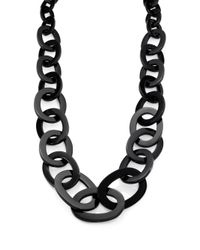 Nest | Black Horn Gradulated Link Necklace | Lyst