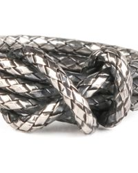 Bottega Veneta - Metallic Silver Knot Ring - Lyst