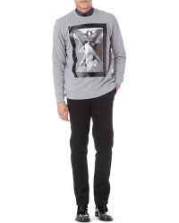 Givenchy - Gray Riccardo Sweatshirt for Men - Lyst