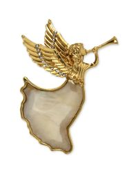 Jones New York | Metallic Gold-tone Herald Angel Boxed Pin | Lyst