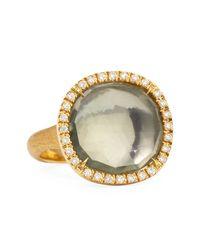 Marco Bicego - Metallic Jaipur Sunset 18kt Gold Diamond Green Quartz Ring - Lyst