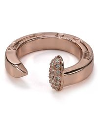 Giles & Brother - Pink Railroad Spike Pave Ring - Lyst