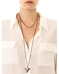 Givenchy - Pink Shark Tooth Necklace - Lyst