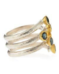 Gurhan - Metallic Blue Topaz Wrap Around Ring Size 65 - Lyst