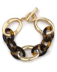 Lauren by Ralph Lauren - Metallic Tortoise Treasure Link Bracelet - Lyst