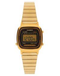 G-Shock   Metallic Black & Gold Mini Digital Watch La670wega-1ef - Black & Gold   Lyst