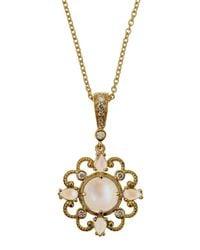 Penny Preville - Metallic Yellow Gold Diamond moonstone Pendant Necklace - Lyst