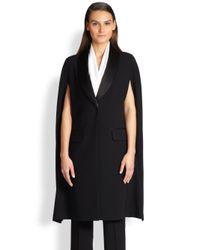 St. John - Black Tuxedo Cape - Lyst