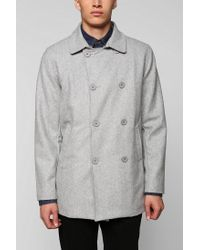 Urban Outfitters | Gray Charles 12 Doublebreasted Top Peacoat for Men | Lyst
