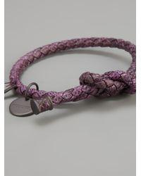 Bottega Veneta - Purple Karung Bracelet for Men - Lyst