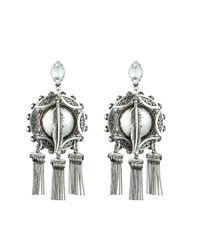 DANNIJO | Metallic Shelton Earrings | Lyst