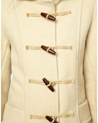 Just Female - White Gloverall Frieda Short Duffle Coat in Heritage Boiled Wool - Lyst