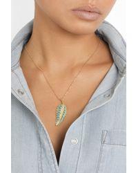 Jennifer Meyer - Metallic 18karat Gold Turquoise Leaf Necklace - Lyst