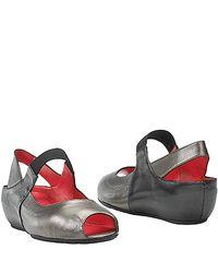 Pas De Rouge - Metallic Silvia Leather Demi Wedge - Lyst
