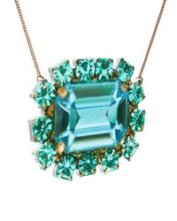 Tatty Devine - Green Jewel Paste Necklace - Lyst