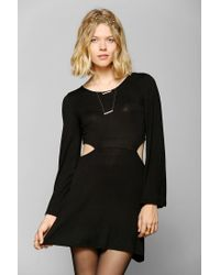 Urban Outfitters | Black Neon Moon Angel sleeve Cut-out Dress | Lyst