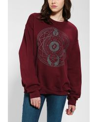 Urban Outfitters | Red Cosmic Dial Pullover Sweatshirt | Lyst