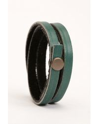 Urban Outfitters | Green Uo Leather Wrap Bracelet | Lyst
