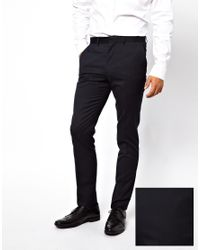 French Connection - Blue Slim Fit In Tipped Suit Trouser for Men - Lyst