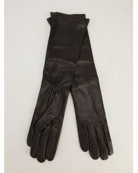 Giorgio Armani - Black Giorgio Armani Long Leather Gloves - Lyst