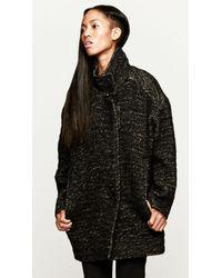 IRO | Black Franeli Cocoon Coat | Lyst