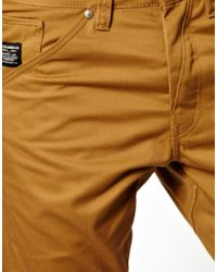 ASOS - Brown Jack Jones Dale Colin Twisted Chinos for Men - Lyst